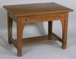 Limbert Arts & Crafts Oak Library Table