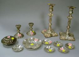 Twelve Sterling Silver and Silver Plated Table Items