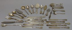 Approximately Thirty Pieces of Assorted Sterling Silver and Silver Plated Flatware
