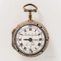Frs. De Roches Enameled Pair-case Watch