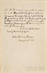 (Adams, John Quincy, 1767-1848),  Presentation Copy