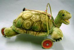 Steiff Mohair Ride-on Turtle.