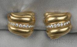 18kt Gold and Diamond Earclips, Barry Kieselstein-Cord