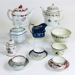 Twelve Pieces of English Creamware and Pearlware