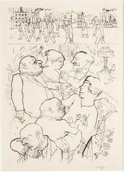 George Grosz (German/American, 1893-1959)      Früh um 5 Uhr!
