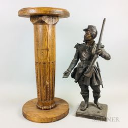 Sculpture of a French Soldier