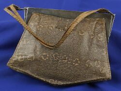 Art Deco Lizard Handbag