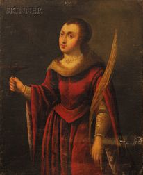 Italian School, 17th Century Style      Saint Lucy
