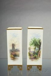 Pair of Davenport Porcelain Vases