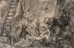 Rembrandt Harmensz van Rijn (Dutch, 1606-1669)      The Circumcision in the Stable