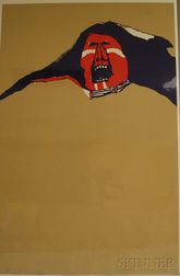 Fritz Scholder (American, 1937-2005)      Red Indian