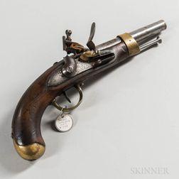 French Model An XII Flintlock Pistol