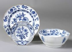 """Thirty-One Pieces of  Meissen Porcelain """"Blue Onion"""" Dinnerware"""