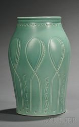 Susie Cooper Matte Green Glazed Art Pottery Vase