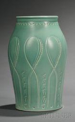 Susie Cooper Matte Green Glazed Art Pottery Vase