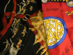 Two Silk and Silk Twill Scarves, Hermes