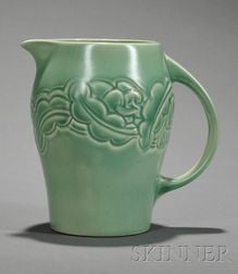 Susie Cooper Matte Green Glazed Art Pottery Pitcher