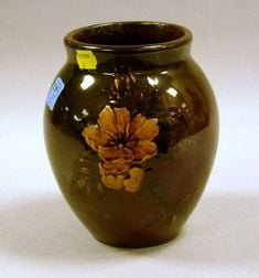 Rookwood Pottery Floral Decorated Standard Glaze Vase