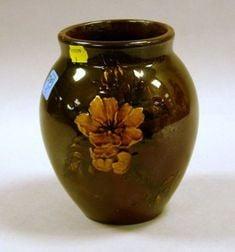 Rookwood Pottery Floral Decorated Standard Glaze Vase