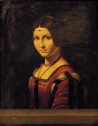After Leonardo da Vinci (Italian, 1452-1519)      Portrait of an Unknown Woman (La Belle Ferroniere)