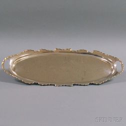 English Silver Oblong Serving Tray