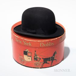 Dobbs New York Hat Box and Bowler Hat