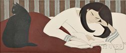 Will Barnet (American, 1911-2012)      The Reader