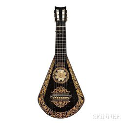 English 7-string Lute Guitar, Edward Light, London, c. 1830