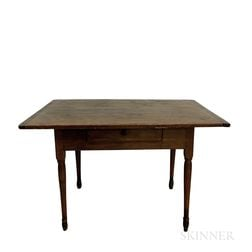 Country Turned Maple and Pine Tavern Table