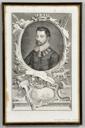Early Engraving of Sir Francis Drake