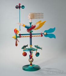 James Eaton Polychrome Metal Weathervane Sculpture