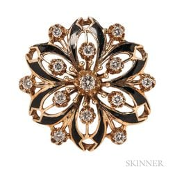 14kt Gold and Diamond Pendant/Brooch