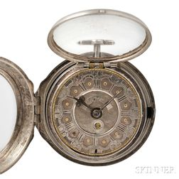 William Farrow Silver Pair-cased Verge Watch with Calendar