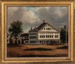 Samuel Lancaster Gerry (Massachusetts, 1813-1891)      Painting of a Tavern in Ashburnham, Massachusetts