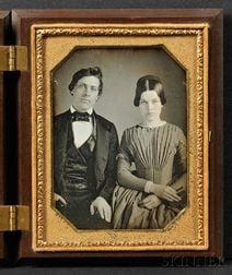 Quarter Plate Daguerreotype Portrait of a Young Couple