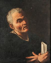 Flemish School, 17th Century      Portrait of a Man Holding Papers