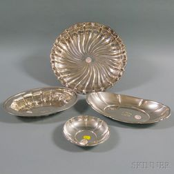 Four Gorham Sterling Silver Dishes