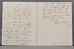 Benton, Thomas Hart (politician) (1782-1858) Autograph Letter Signed, 11 December 1827 Single wove paper bifolium, watermarked Amies, P