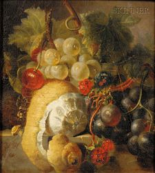 Manner of Cornelis de Heem (Flemish, 1631-1695)      Still Life with Fruit