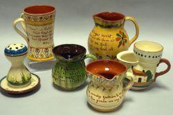 Six Pieces of Torquay Motto Ware