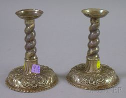 Pair of Baroque-style Candlesticks