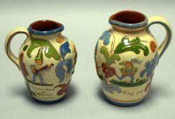 Two Aller Vale Devonshire Pixie Jugs.