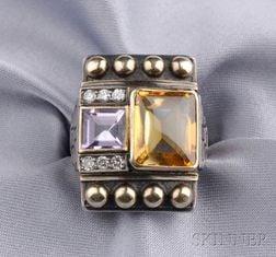 Silver Gem-set Ring, Cozzolino