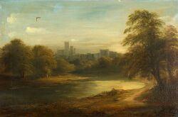 Attributed to Edmond John Neimann (British, 1813-1876)  River Near Windsor