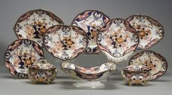 Crown Derby Porcelain Forty-four Piece Luncheon Service