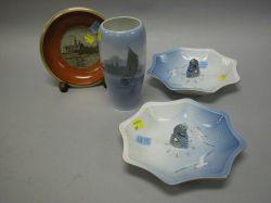 Four Royal Copenhagen Porcelain Articles