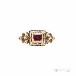 Antique Renaissance Revival Gold Gem-set Ring