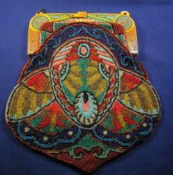 Art Deco Egyptian Revival Bakelite Beaded Bag