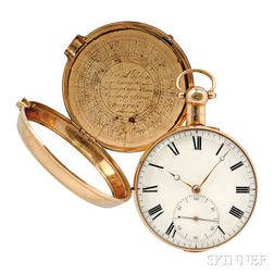John Wood 18kt Gold Pair Cased Watch