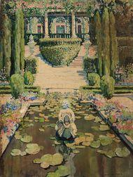 Jane Peterson (American, 1876-1965)      A California Garden